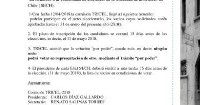 thumbnail of COMUNICADO ELECCIONES TRICEL N°2 2018-2020