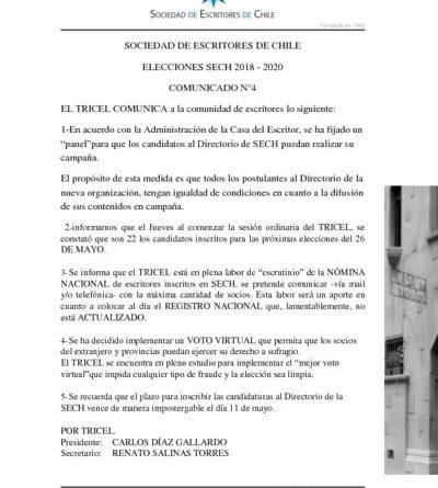 thumbnail of COMUNICADO ELECCIONES TRICEL N°4