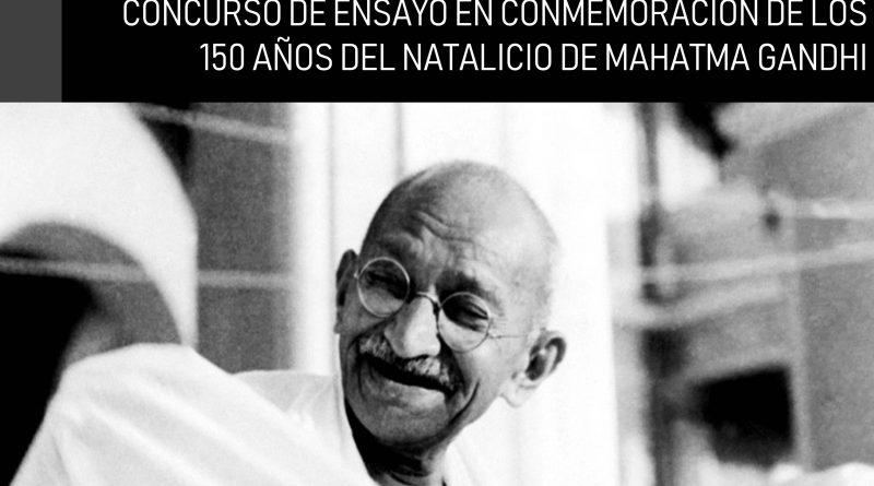 Concurso con motivo del 150° Aniversario del Natalicio de Mahatma Gandhi