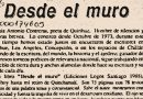 DESDE EL MURO, por Edmundo Moure