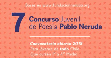 7º Concurso Juvenil de Poesía Pablo Neruda 2019