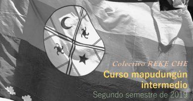 Curso mapudungún intermedio (dirigido por el Colectivo REKE CHE)