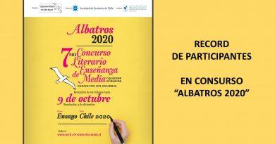 """RECORD DE PARTICIPANTES EN CONSURSO """"ALBATROS 2020"""""""