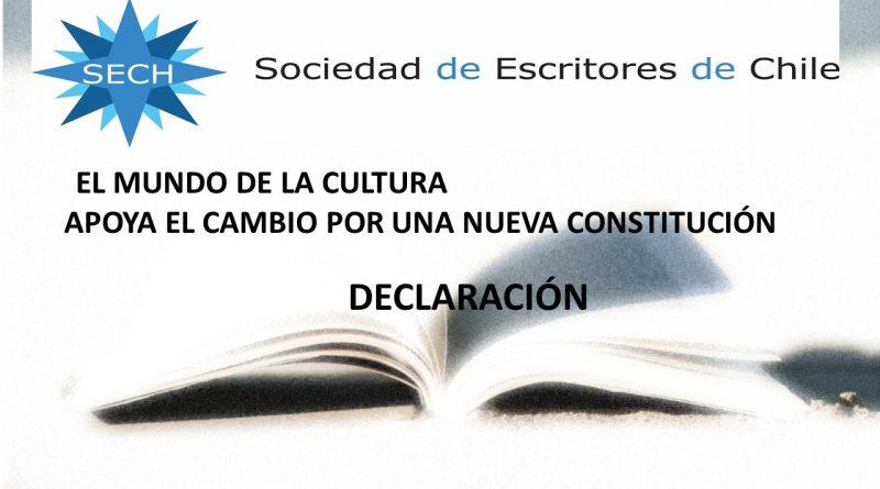 DECLARACIÓN DE LA SOCIEDAD DE ESCRITORES DE CHILE