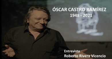 La Sociedad de Escritores de Chile (SECH), lamenta el sensible fallecimiento del actor, dramaturgo y gestor cultural Óscar Castro. En su memoria transcribimos a continuación la entrevista que le realizará en el año 2018 para revista Occidente, Roberto Rivera Vicencio.