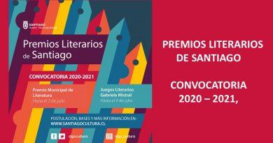 Los Premios Literarios de Santiago abren su convocatoria 2020-2021